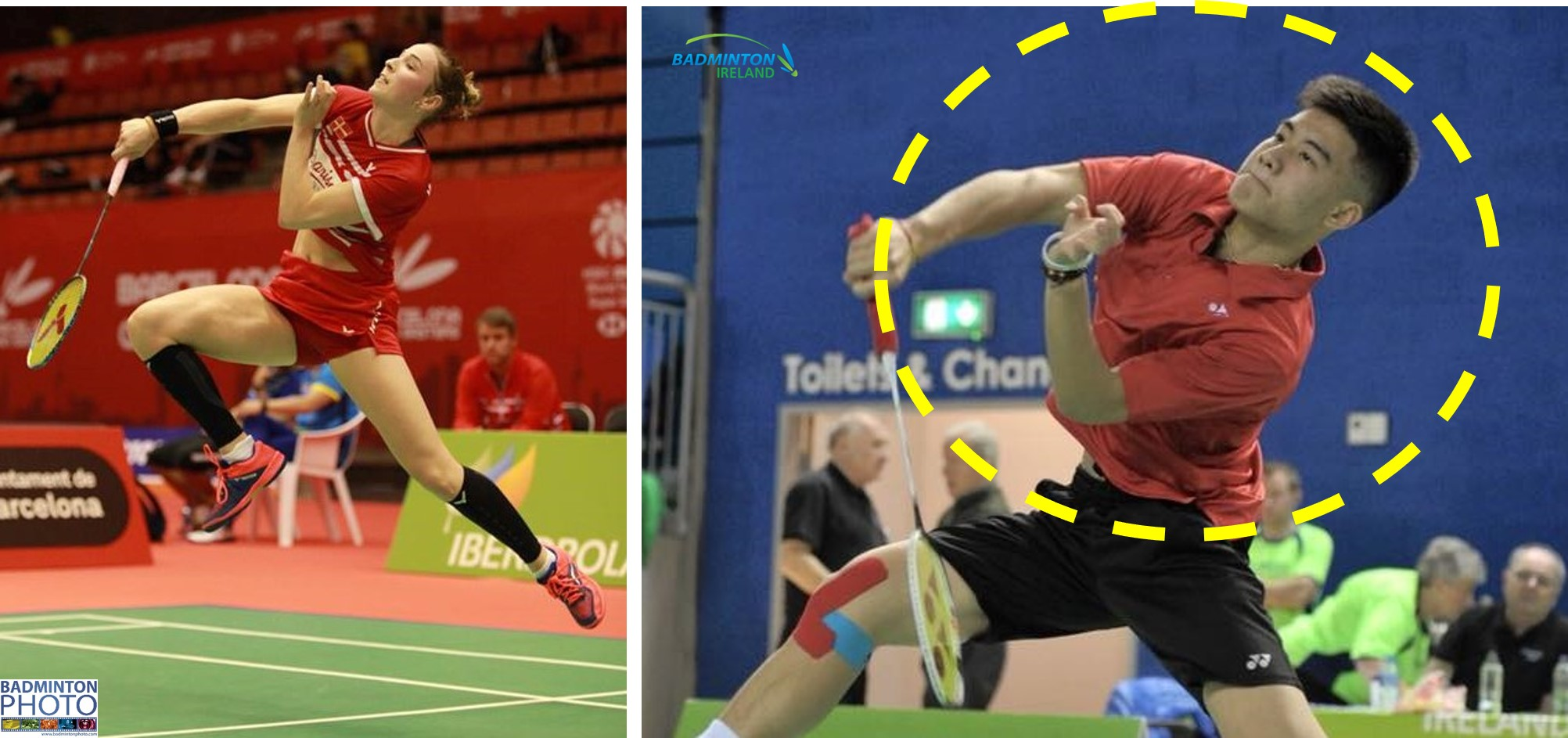 Upper body rotation in the round the head