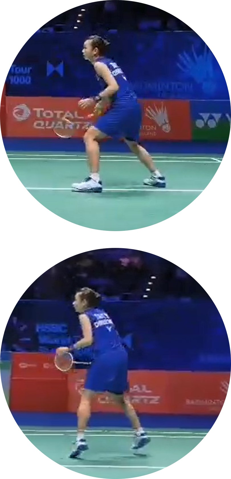 Badminton Stannce : Backwards attacking